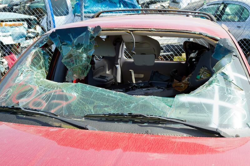 this image shows windshield repair in Sacramento, California